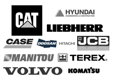 buy CAT, Volvo, Liebherr, JCB, Hyundai, Case, Doosan, Hitachi, Terex, Manitou, Komatsu and Caterpillar.